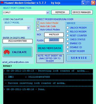 tool reset modem how to reset permanently blocked hauwei usb modems lock