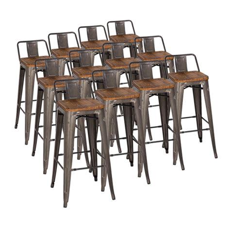 architect gunmetal bar stool buy metal bar stools metro low back gun metal wood bar stool set eurway