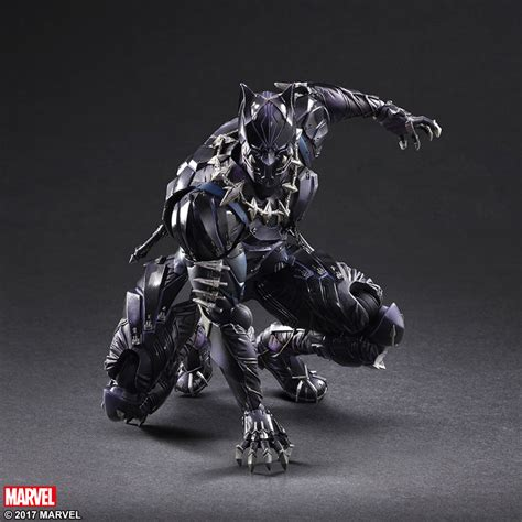 figure black panther play arts s new batman and black panther figures look