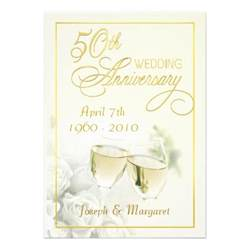 golden wedding anniversary invitations uk 50th golden wedding anniversary invitations zazzle
