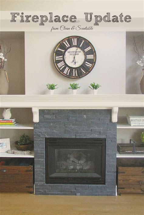 update your fireplace updated fireplace and mantel clean and scentsible