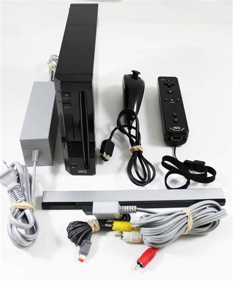 used wii console wii black console refurbished