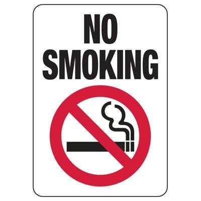 no smoking sign picture no smoking signs aluminum or plastic sign w graphic