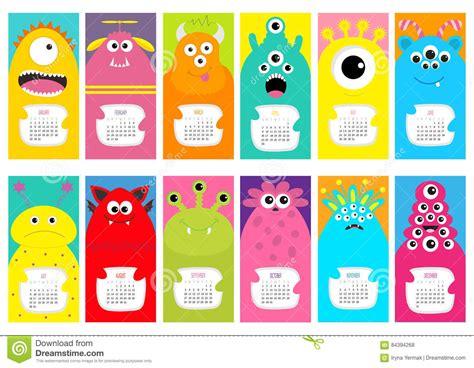 calendar design ideas vector cat vertical monthly calendar 2017 all month cute funny