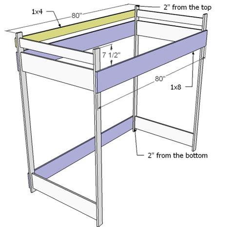 Diy Loft Bunk Bed Design Plans Download Twin Platform Bed Bunk Bed Building Plans Free