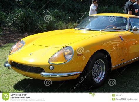 car nose classic yellow sports car nose editorial stock
