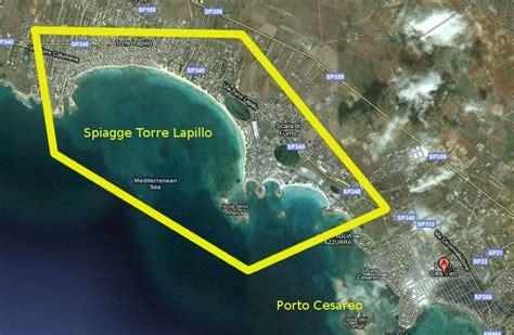 mappa porto cesareo dove trovo le spiagge a porto cesareo torre lapillo