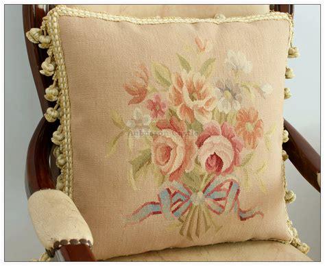 free ship aubusson pillow cushion black pink shabby