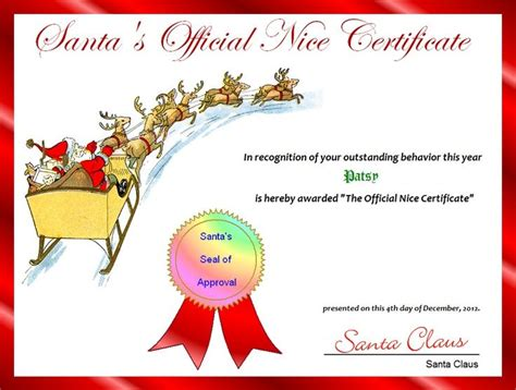 search results for printable christmas certificates santa nice list certificates free printable santa s