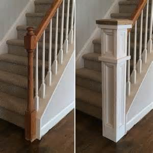 banister post tops 25 best ideas about farmhouse stairs on