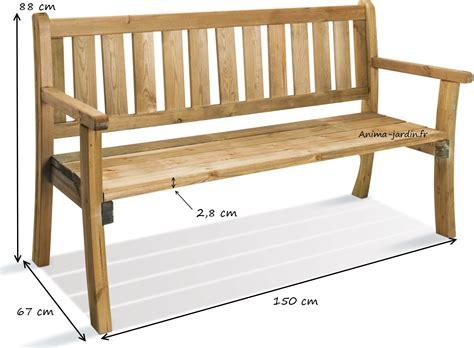 banc en bois banc en bois avec dossier 150 cm philadelphia achat vente