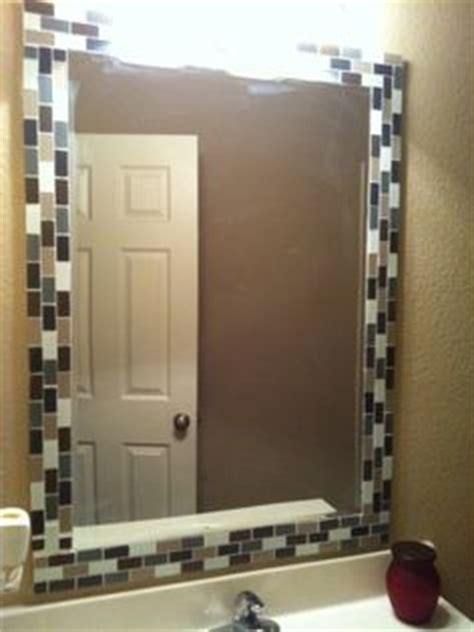how to decorate a bathroom mirror 1000 images about refurbishing mirrors on
