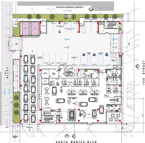 car showroom floor plan development agreement for automobile dealership mini
