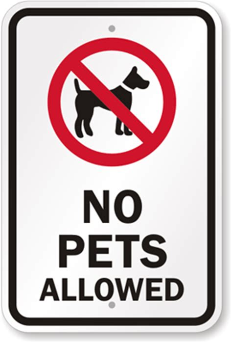 where pets are and are not allowed