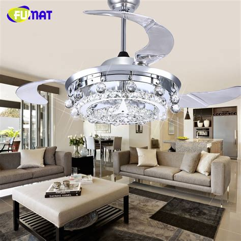 dining room ceiling fans with lights aliexpress com buy fumat led ceiling fans crystal light