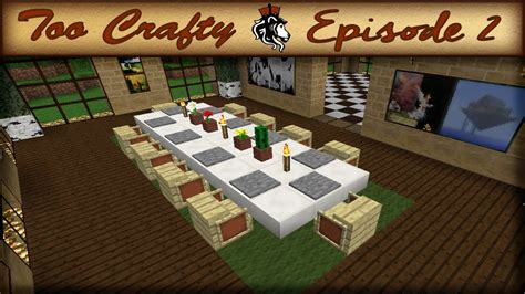 how to make a dining room in minecraft crafty 2