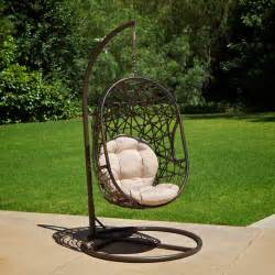 Swinging Patio Chairs Outdoor Patio Furniture Modern Design Swinging Egg Wicker Chair Ebay