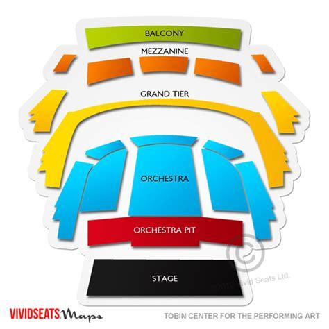 tobin center   performing arts seating chart vivid