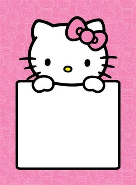 hello kitty empty invitation template invitations online