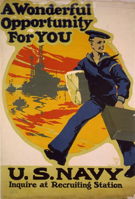 At recruiting station american ww1 propaganda posters ww1 navy posters