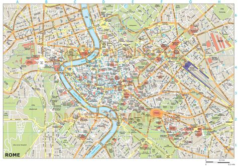 rome city map royalty free rome illustrator vector format city map