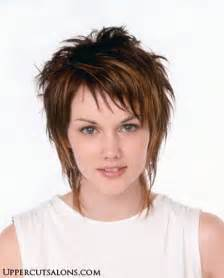 Ask your stylist to cut short shaggy layers throughout your hair quot