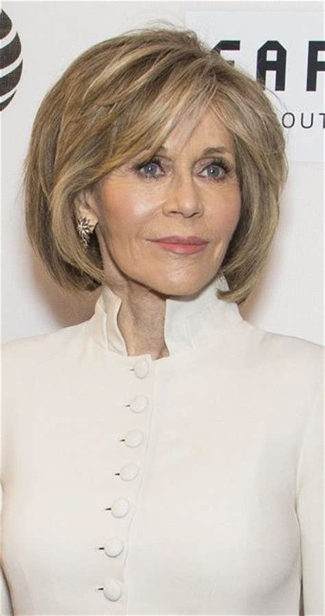 bobs for over 55 and full figure jane fonda contemporary bobs for women over 40 hair