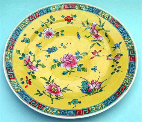 new year period in china republic qing period china yellow plate for