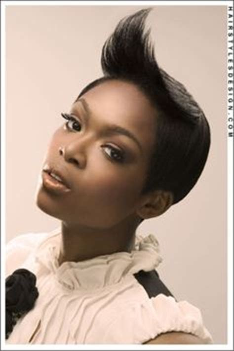 Back View Of Weavon Cutting For Yvonne Nelson Short Hair | hair it s finest on pinterest black women mohawks and