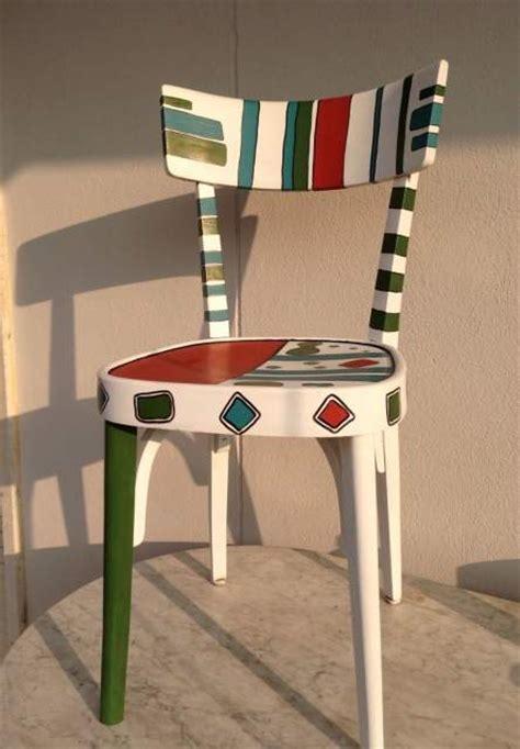 sedie osteria sedia antica osteria in legno decorata rosso a vicenza