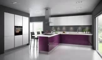 une cuisine aubergine pour ambiance inspiration cuisine