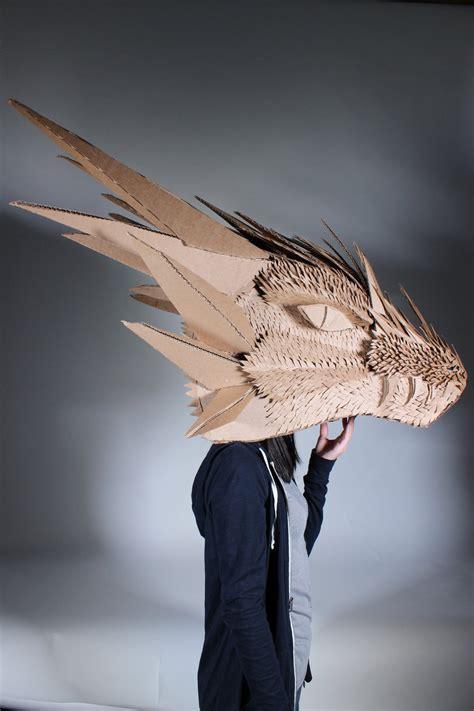 cardboard dragon head by spiritualmist on deviantart