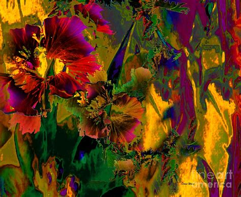Abstract Flowers abstract flowers digital by doris wood