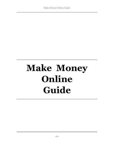 Make Money Online Guide - make money online guide