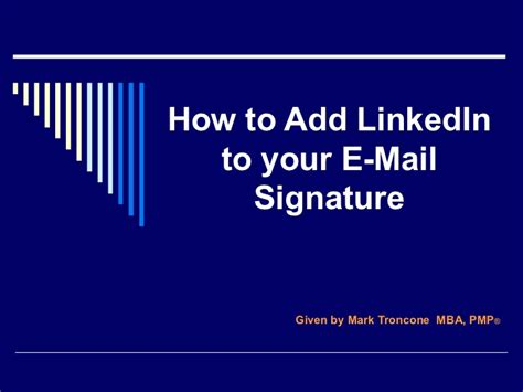 how to add linked in to your e mail signature
