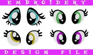 Of my little pony plush eyes pes machine embroidery design pattern mlp