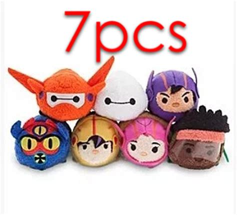 Bantal Mobil Set 6 Bordir Tsum Tsum Mm Blue Stitch tsum tsum big armor baymax hiro gogo honey wasabi fred mini plush doll mobile phone