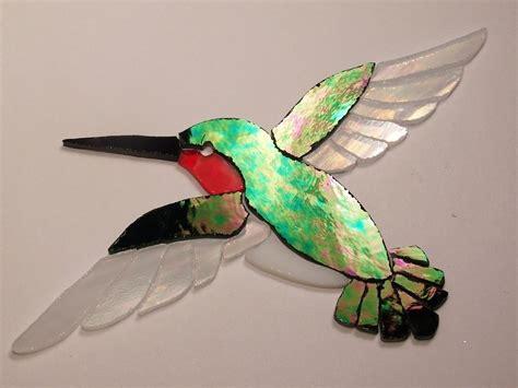 mosaic hummingbird pattern pre cut stained glass art hummingbird mosaic inlay garden