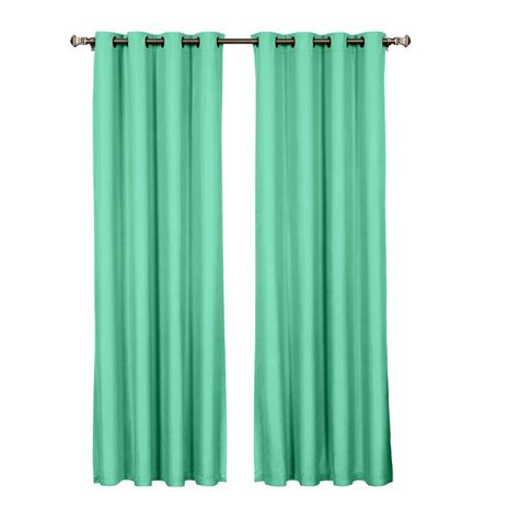 Turquoise Grommet Curtains Lavish Home Valencia Charcoal Polyester Curtain Panel 54 In W X 84 In L 63 209 84 Char The