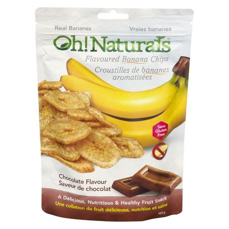 Oh Banana oh naturals chocolate banana chips walmart ca