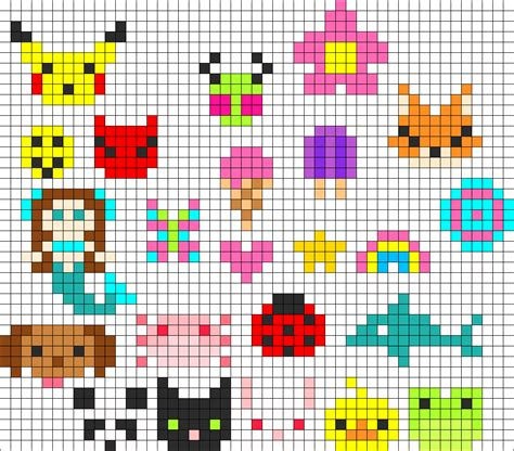 perler bead design tons of perler charms perler bead pattern bead sprites
