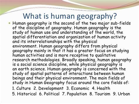 Built Landscape Definition Human Geography Introduction To Geography