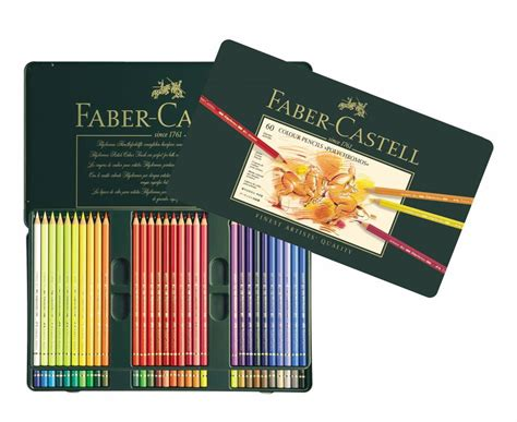 Faber Castell Polychromos 60 Colors faber castell kleurpotlood polychromos etui 224 60 stuks fc 110060 craftlines