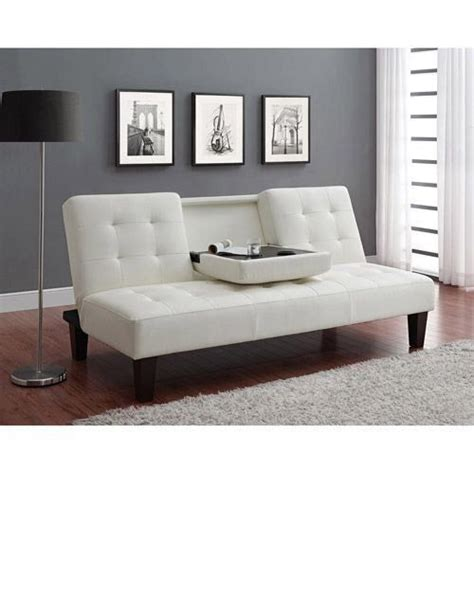 futon with cup holders white futon with cup holder sofas futons