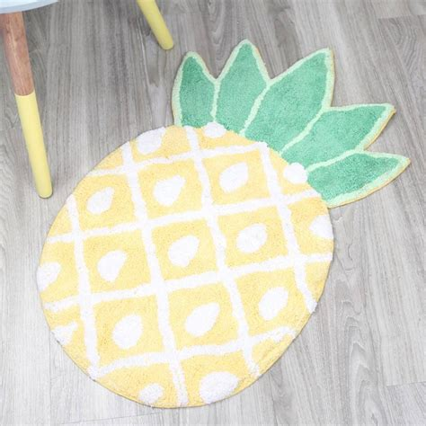 pineapple rug pineapple bath mat by notonthehighstreet