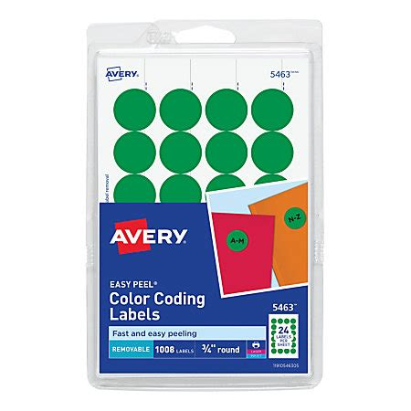 printable labels removable avery removable round color coding labels 34 diameter