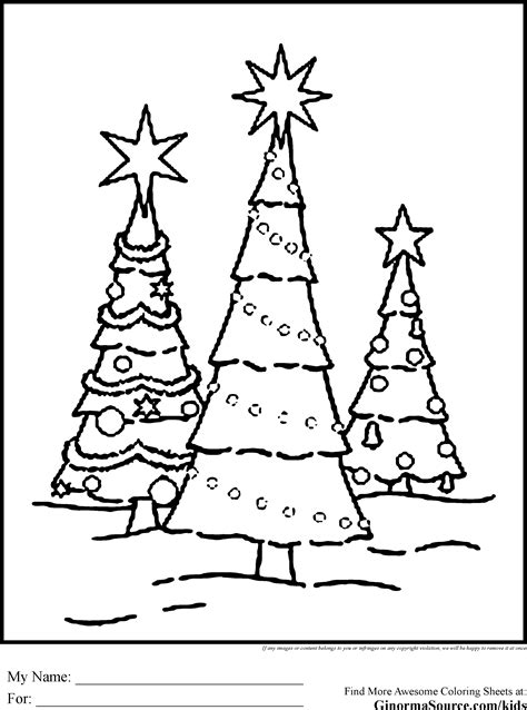 Christmas Tree Coloring Pages Ginormasource Kids Tree Farm Coloring Pages