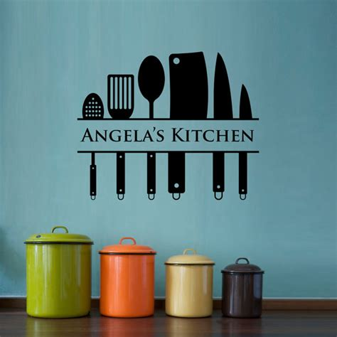 Cooking Measurements Wall Decal Kitchen Wall Decal Custom Name Decal Kitchen Utensil Wall
