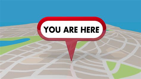 You Are Here you are here map pin location navigation 3 d animation