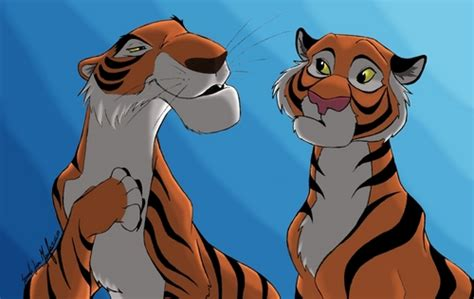 wallpaper tiger disney disney crossover images sher khan and rajah hd wallpaper